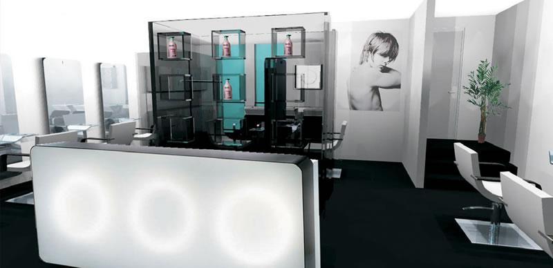 Agencement de salon de coiffure mobilier pour coiffeurs for Mon salon en 3d