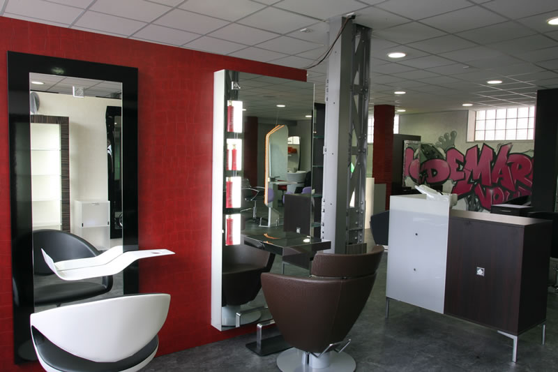 Coiffure204 agencement salon de coiffure for Mobilier salon design